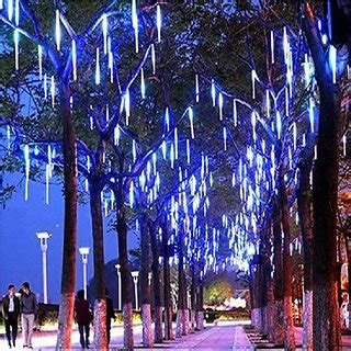 how to make raining lights in a tree buy led meteor shower lights outdoor string lights waterproof garden lights 30cm 8
