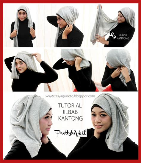 tutorial hijab veil port of tasya hijab tutorial jilbab kantong