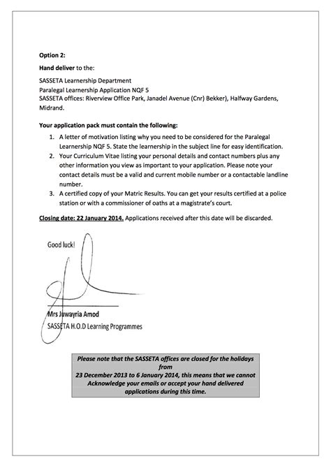 Motivation Letter Of Learnership Writing Effective Application Letter Cover Letter Templates