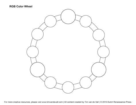 color template free color wheel blank coloring pages