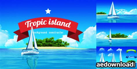 yacht sailing island travel intro videohive free after
