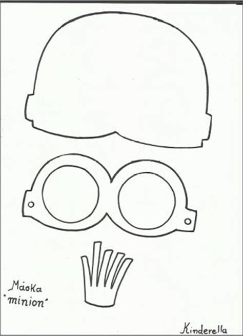 minion mask template minion template and minions on