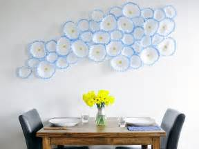 how to make floral wall art with coffee filters hgtv