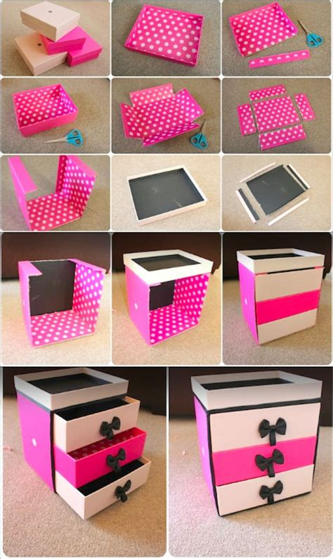 diy cardboard box storage these are cardboard drawer 14 incredibly simple ways to organize your makeup