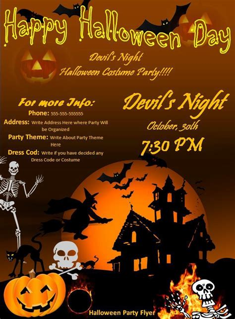 halloween templates for flyers free halloween party flyer best word templates