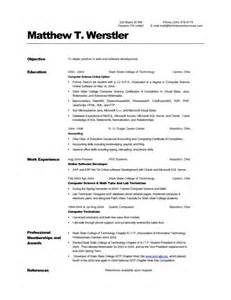 Cs Resume Example Computer Science Resume Getessay Biz