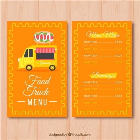 Burger Food Truck Menu Template Stock Images Page Everypixel Food Truck Menu Template