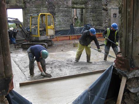 concrete base floor l concrete base floor is laid glenlair