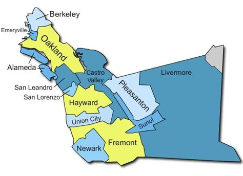 Alameda County Search Alameda County Map With Cities Search Marketing