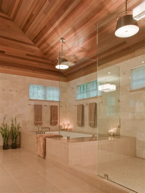 bathroom wood ceiling ideas 26 beautiful wood master bathroom designs page 2 of 5
