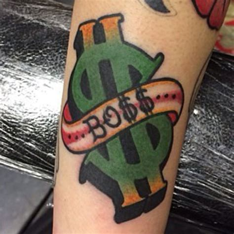 dollar sign tattoo money meanings style