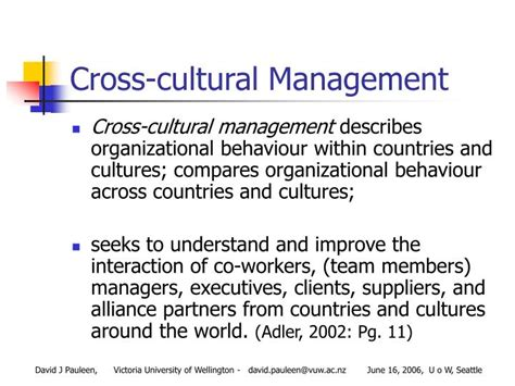 Cross Cultural Management 1 ppt cross cultural knowledge management at