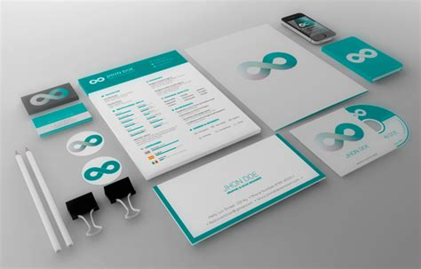 branding templates teal business branding template