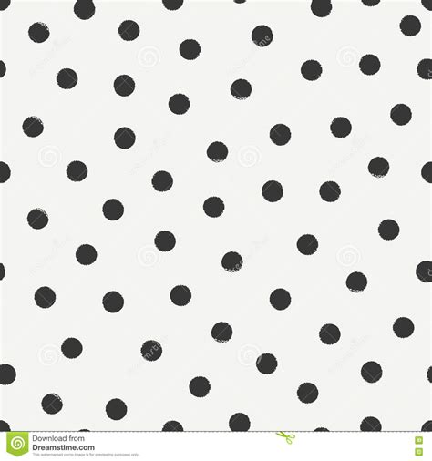 seamless polka dot pattern vector background hand drawn geometric seamless ink polka dot pattern