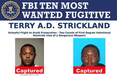 Eppd Warrant Search Top Ten Fugitive Terry A D Strickland Captured Fbi
