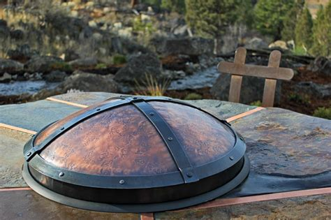 Firepit Cover Crafted Pits Ponderosa Forge
