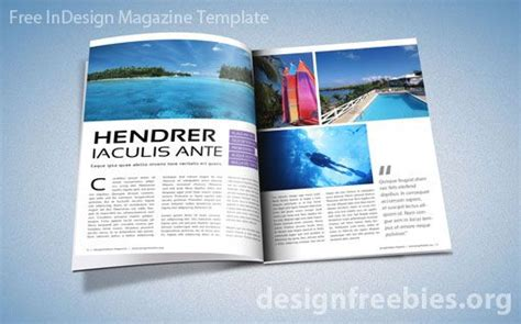 free adobe indesign magazine template design freebies