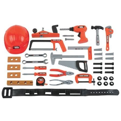 black and decker play tool bench funny toys gadgets black decker 42pc play tool set fun gadgets for kids