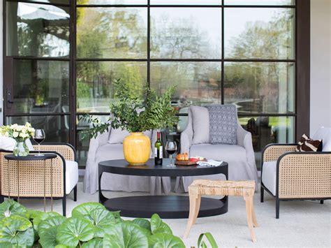 mix  match outdoor furniture materials summer