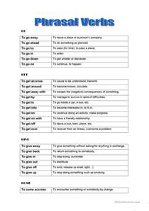 phrasal verbs by groups worksheet free esl printable