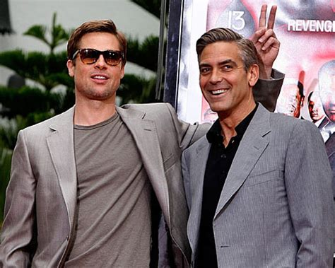 Pitt Clooney And Damon Get Cemented by George Clooney And Brad Pitt Cement Status Daily