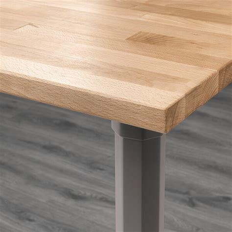 gerton table beech gray ikea