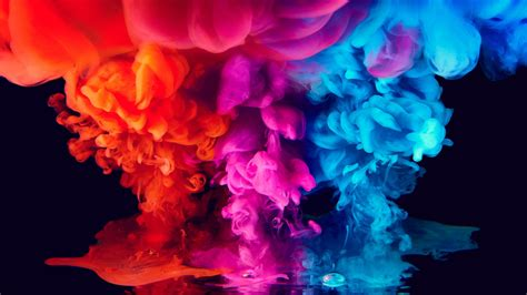 wallpaper colorful ink smoke vibrant  photography