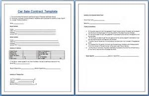 car sale contract template car sale contract template for ms word formal word templates
