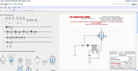Drawing P Id In Excel by P Id Diagram Drawing Tool