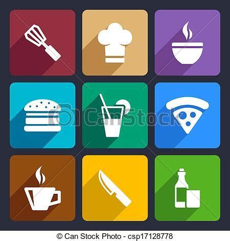 Help Me Design My Kitchen vectors illustration of kitchen flat icons set 23