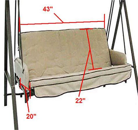 replacement cushions for swings universal replacement swing cushion garden winds
