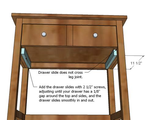 how to build a desk with drawers pdf build a nightstand with drawer plans free
