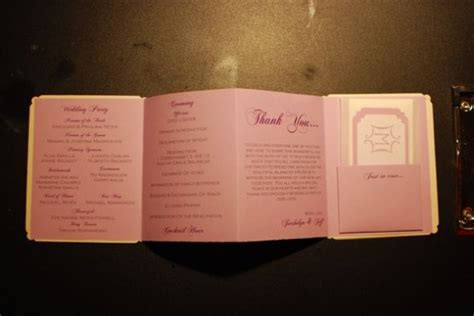 I M So Proud Of My Diy Program Weddingbee Diy Wedding Program Template