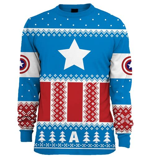 jumper film marvel marvel comics knitted captain america fair isle jumper