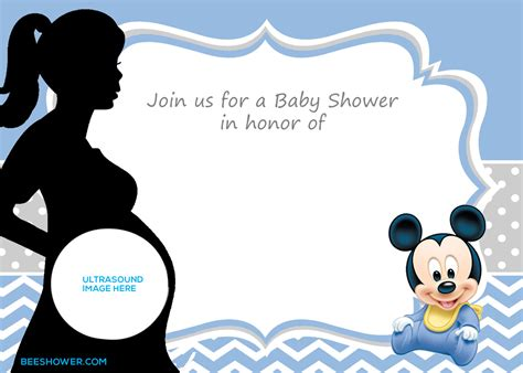 Baby Shower Invitations Printable Templates by Free Printable Mickey Mouse Baby Shower Invitation
