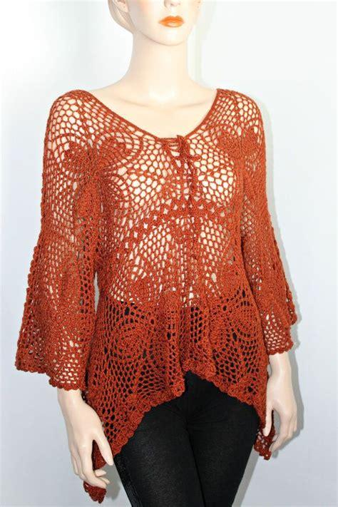 Handmade Tops - lace crochet handmade tunic top