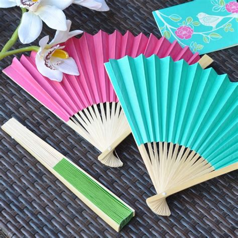 personalized folding fans for weddings personalized paper label folding hand fan favors
