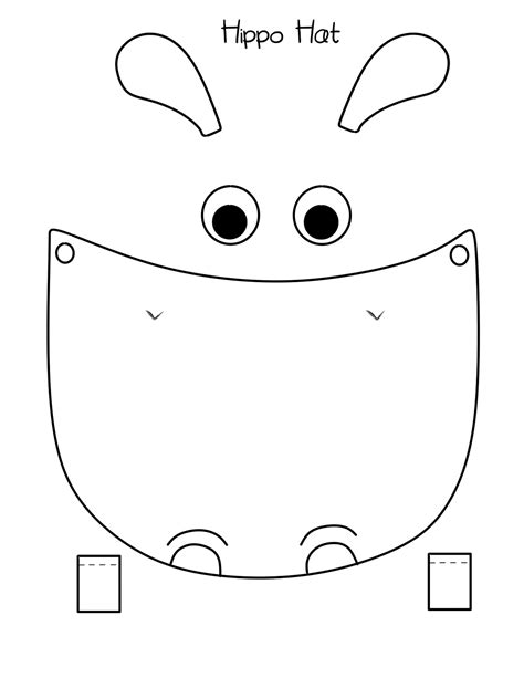 hippo mask template printable 25 images of hippopotamus face template infovia net