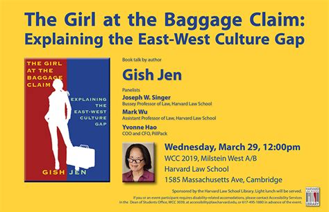 the at the baggage claim explaining the east west culture gap vintage contemporaries books book talk gish jen s the at the baggage claim