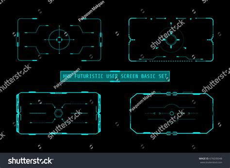 virtualization the future change layout settings in hud futuristic user screen basic elements stock vector