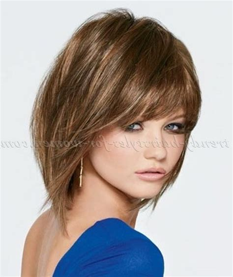 Hairstyles For Medium Length Hair With Bangs by 2018 Popular Medium Length Bob Hairstyles With Bangs