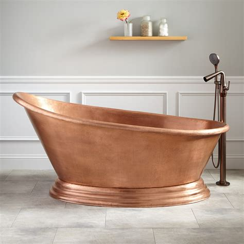 freestanding bathtub 68 quot boathouse copper freestanding tub bathroom