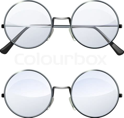 Home Fashion Design Jobs glasses with transparent white round lenses isolated on