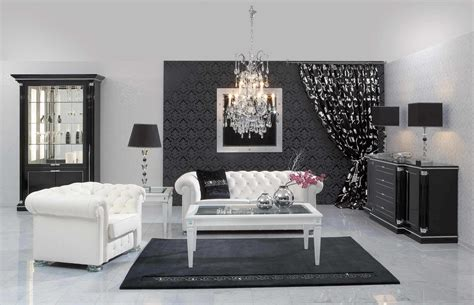 wonderful black and white living room designs cool black