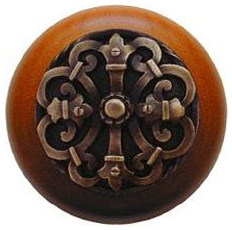 notting hill chateau cherry wood knob antique brass