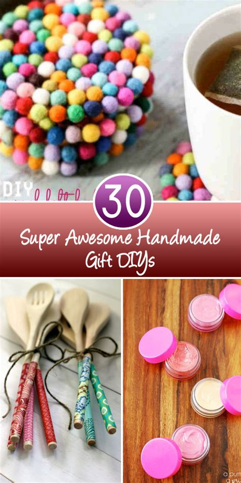 Awesome Handmade Gifts - 30 awesome handmade gift diys nifty diys