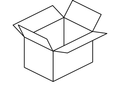 Box Coloring Page box coloring pages 8