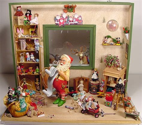dollhouse decorated for christmas santa s workshop 1 12 scale dollhouse miniature santa s