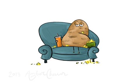 couch potato cartoon couch potato amber cheever