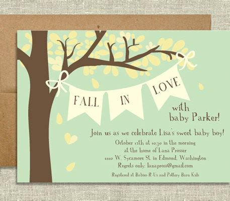 Fall Themed Baby Shower Invitations autumn vanilla picture autumn themed baby shower invitations